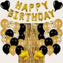37 Stuecke Geburtstagsparty Ballon Set