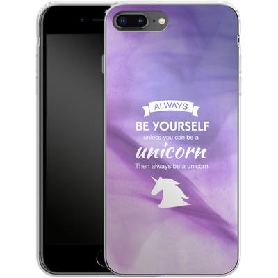 Apple iPhone 7 Plus Silikon Handyhuelle - Be A Unicorn von Statements