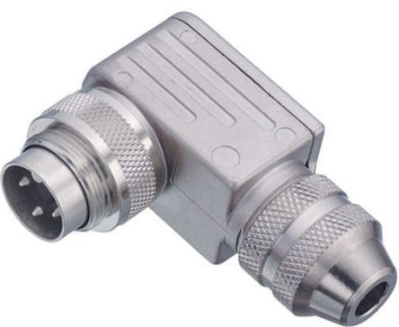 Binder Connector, 2 contacts Cable Mount Miniature Socket, Solder IP67