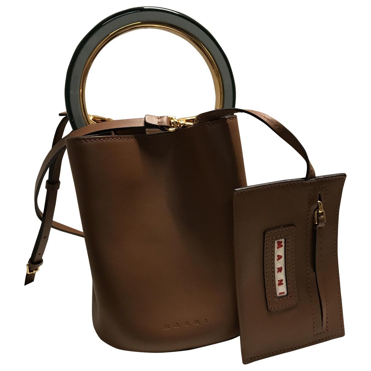 Marni Pannier Brown Leather handbag for Women \N