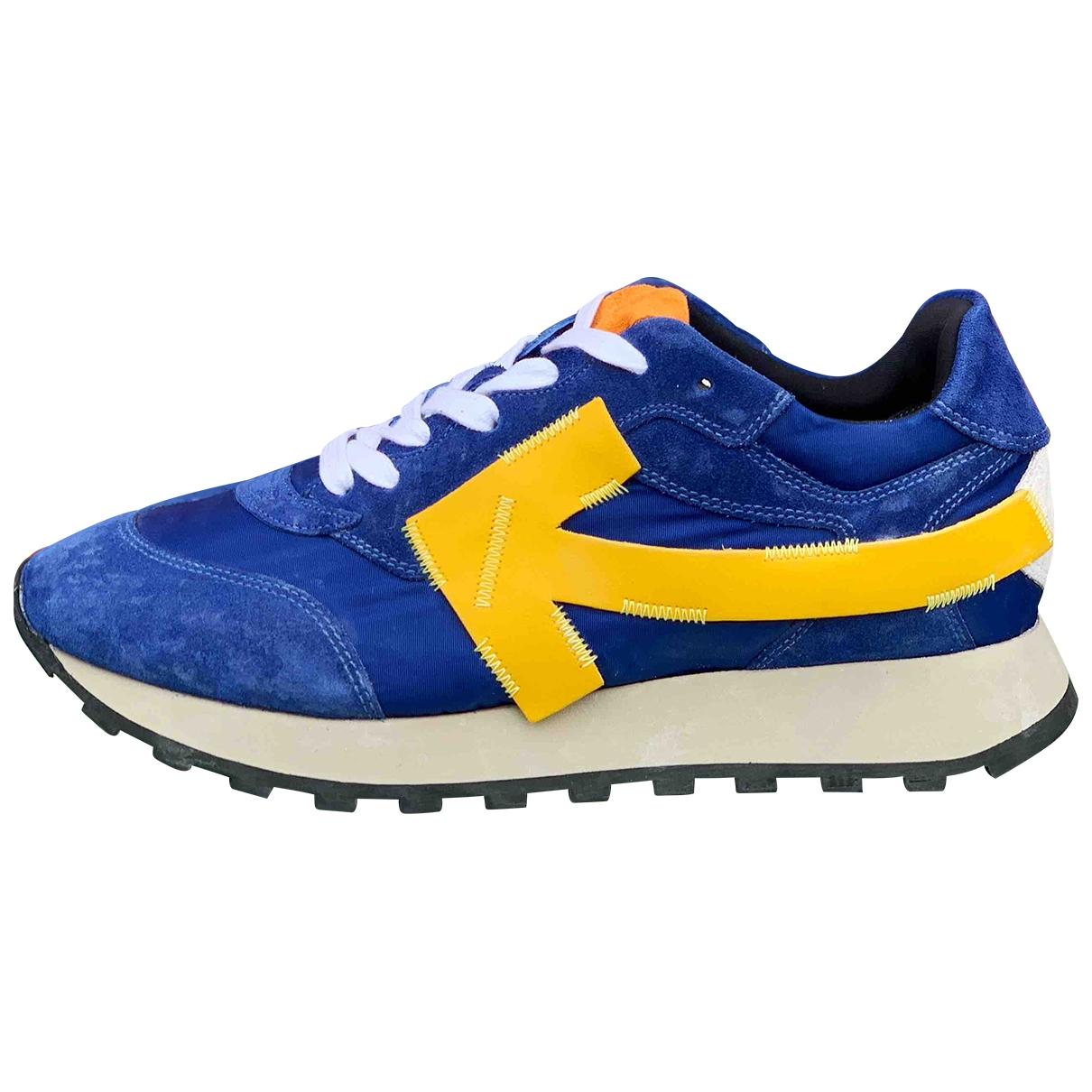 Off-white Runner Sneakers in  Blau Veloursleder
