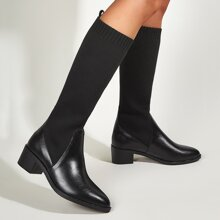 Point Toe Knee Sock Boots