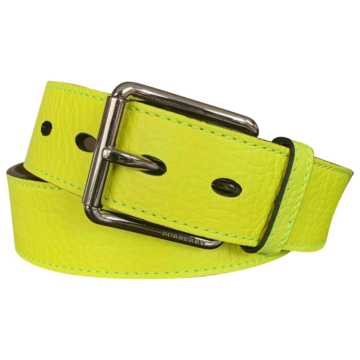 Burberry \N Yellow Leather belt for Women 90 cm