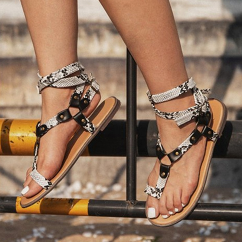 Ericdress Toe Ring Flat With Buckle Beach Sandals