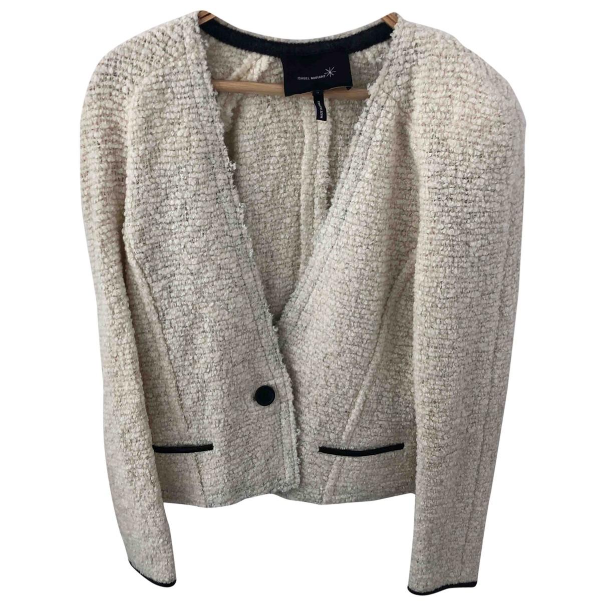 Isabel Marant - Veste   pour femme en tweed - ecru