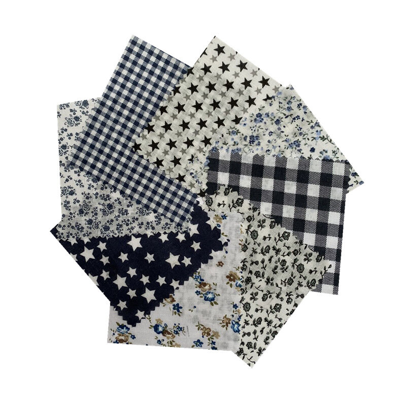 DIY Handmade 8 Patchwork Cloth Group Plain Weave Cotton Cloth