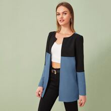Two Tone Open Front Coat
