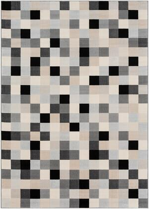 City CIT-2309 710 x 103 Rectangle Modern Rug in Light Gray  Taupe  Black  Beige