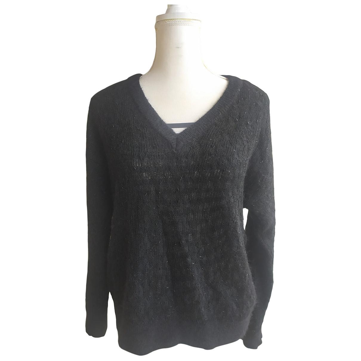 Uterque - Pull   pour femme en laine - noir