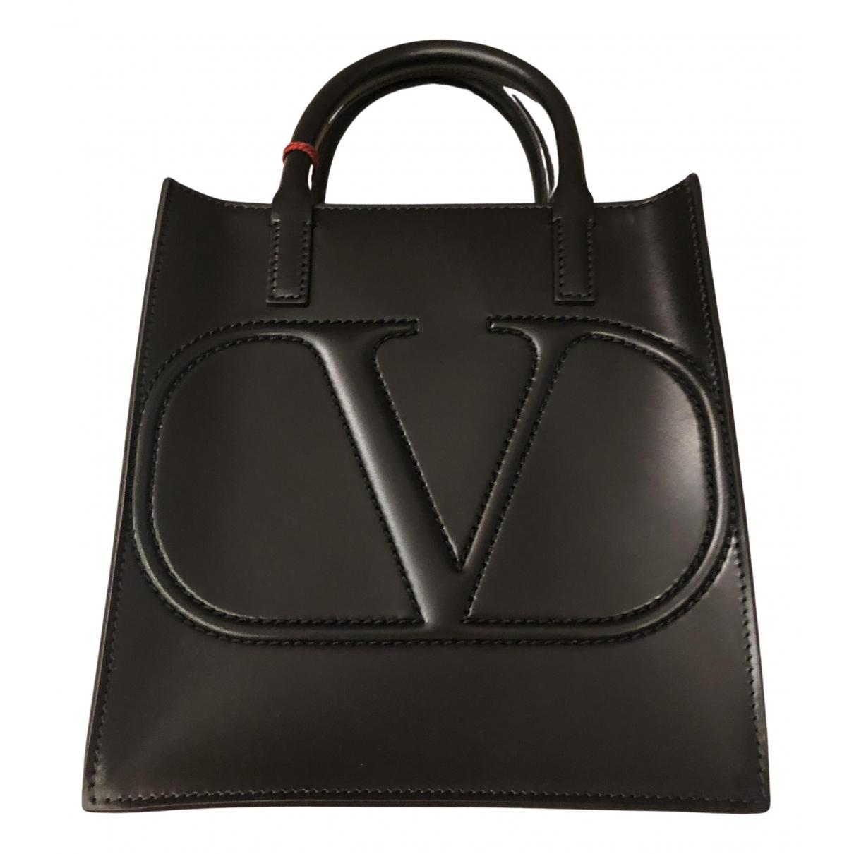 Valentino Garavani \N Handtasche in  Schwarz Leder