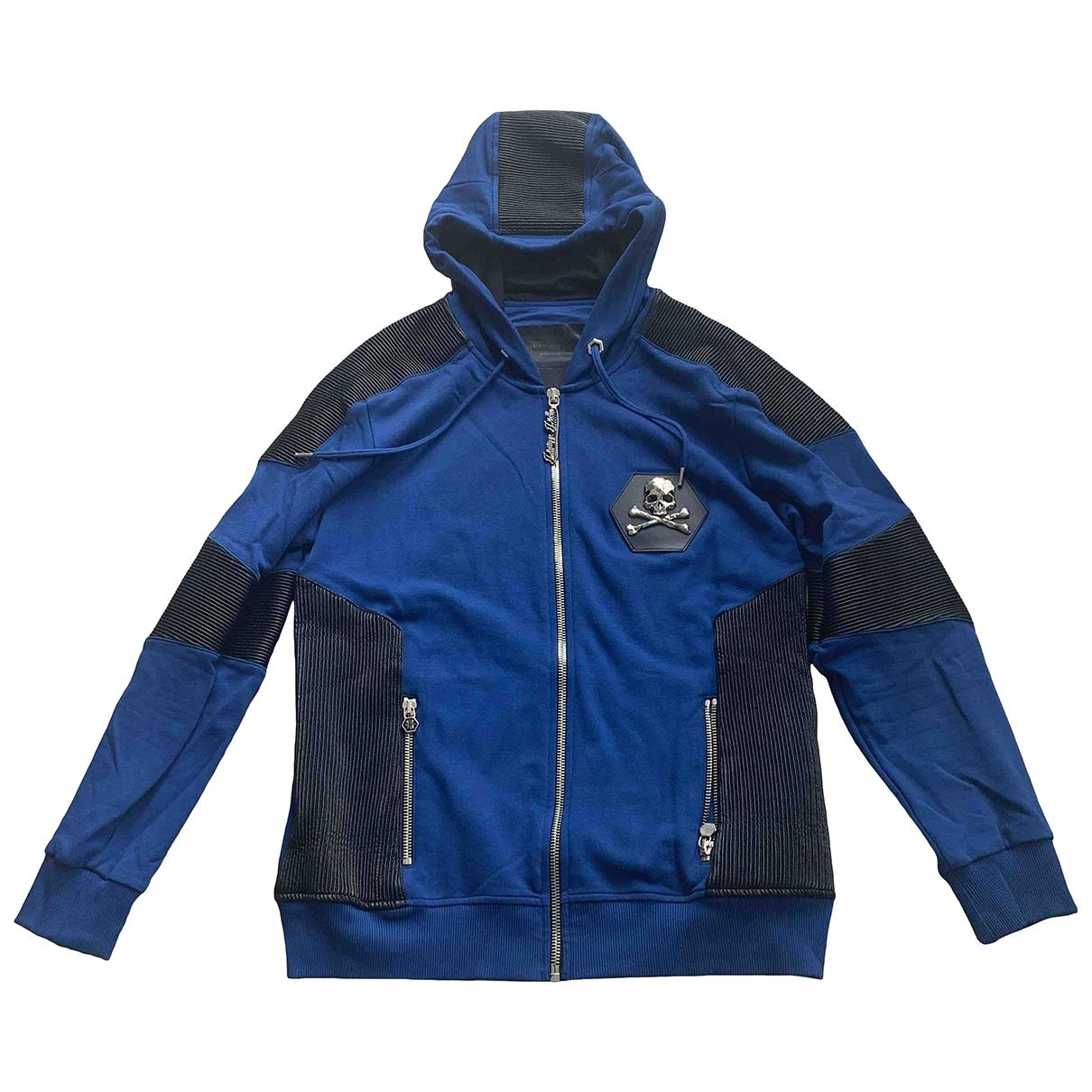 Philipp Plein \N Blue Cotton Knitwear & Sweatshirts for Men 5 0 - 6