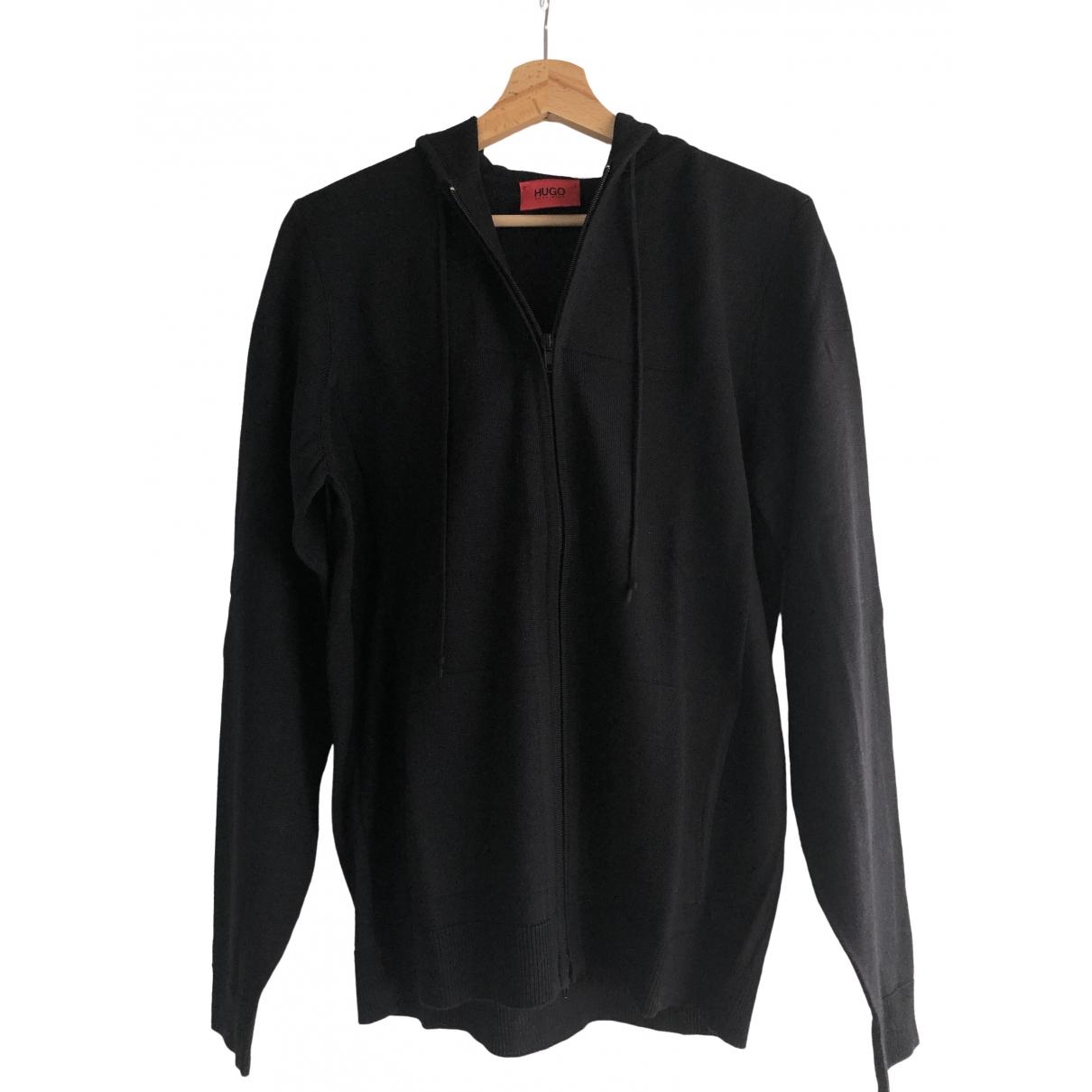 Hugo Boss \N Pullover.Westen.Sweatshirts  in  Schwarz Wolle