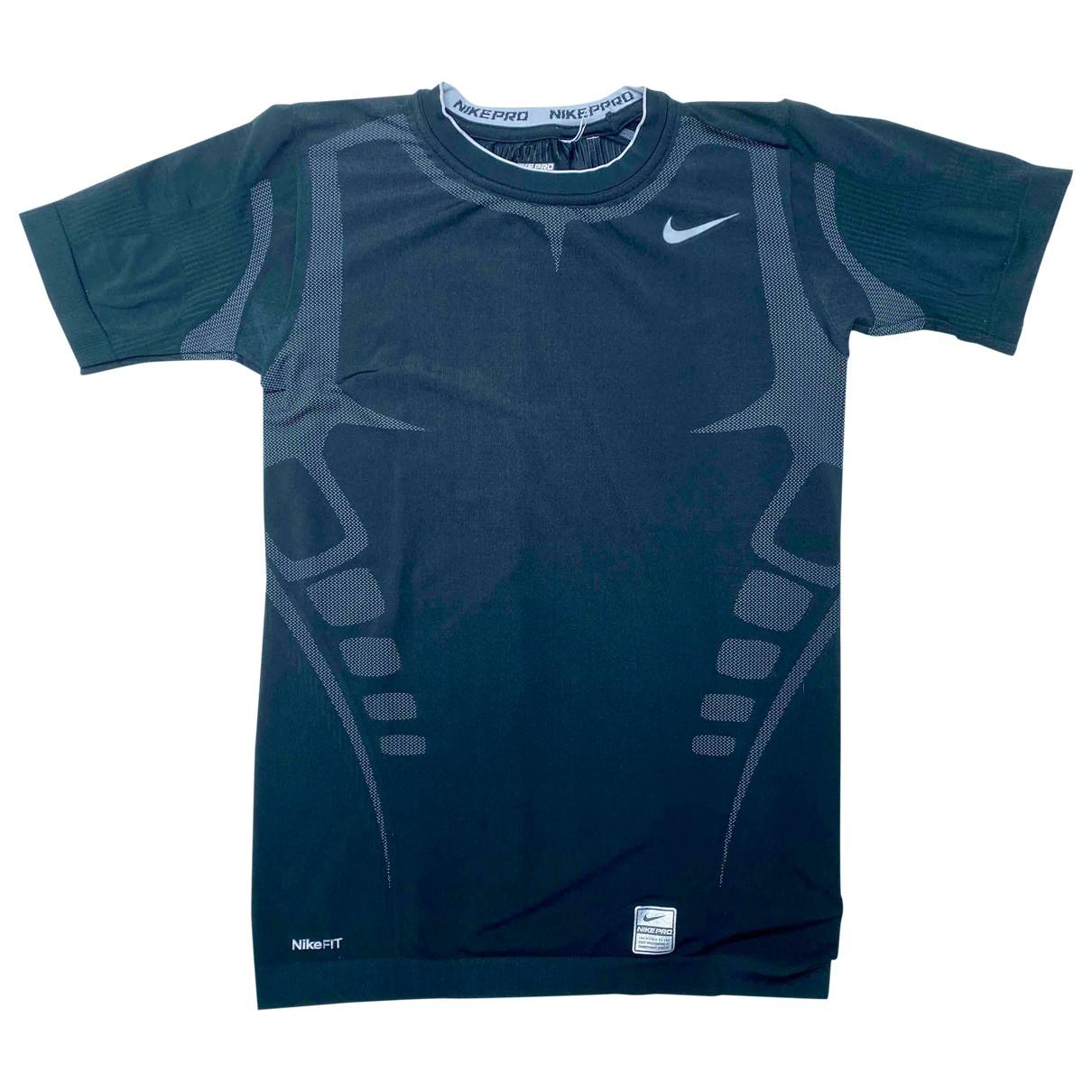 Nike \N T-Shirts in  Schwarz Synthetik
