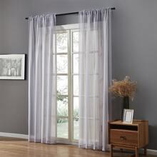1pc Minimalist Solid Sheer Curtain