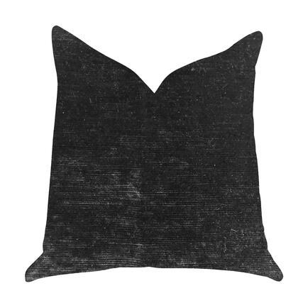 Noir Collection PBRA1368-2026-DP Double sided  20 x 26 Standard Plutus Onyx Caviar Velvet Throw Pillow in