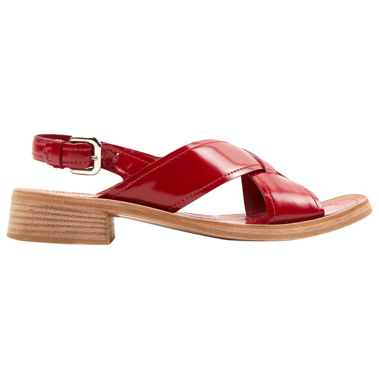 Prada \N Sandalen in  Rot Leder