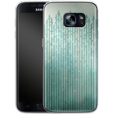 Samsung Galaxy S7 Silikon Handyhuelle - Misty Morning von Little Clyde