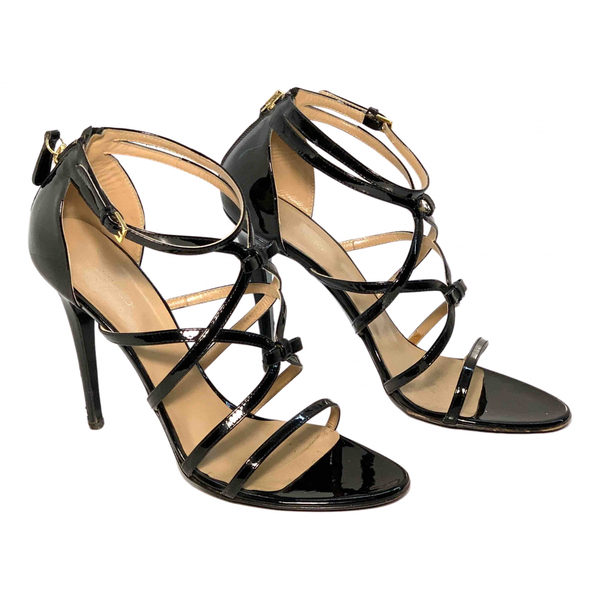 Dsquared2 \N Sandalen in  Schwarz Lackleder