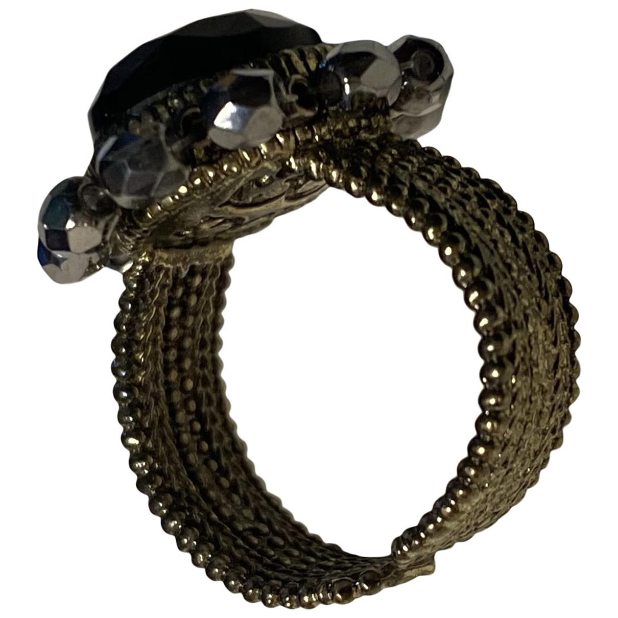 Non Signe / Unsigned Motifs Etoiles Ring in  Bunt Metall
