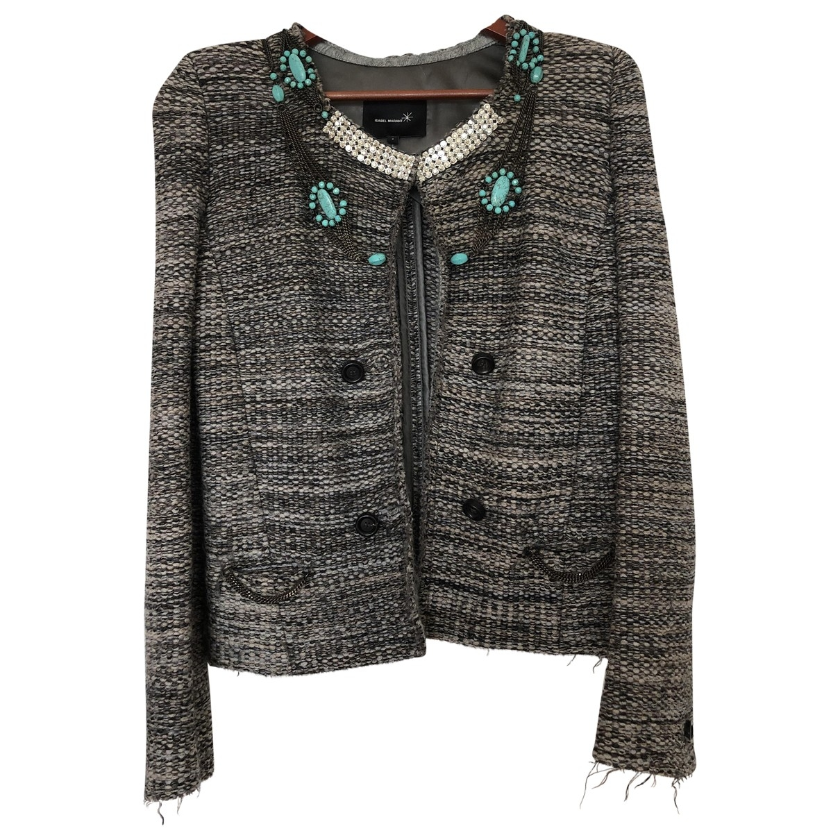 Isabel Marant - Veste   pour femme en tweed - beige