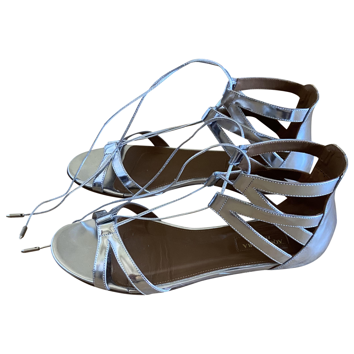 Aquazzura \N Sandalen in  Silber Lackleder