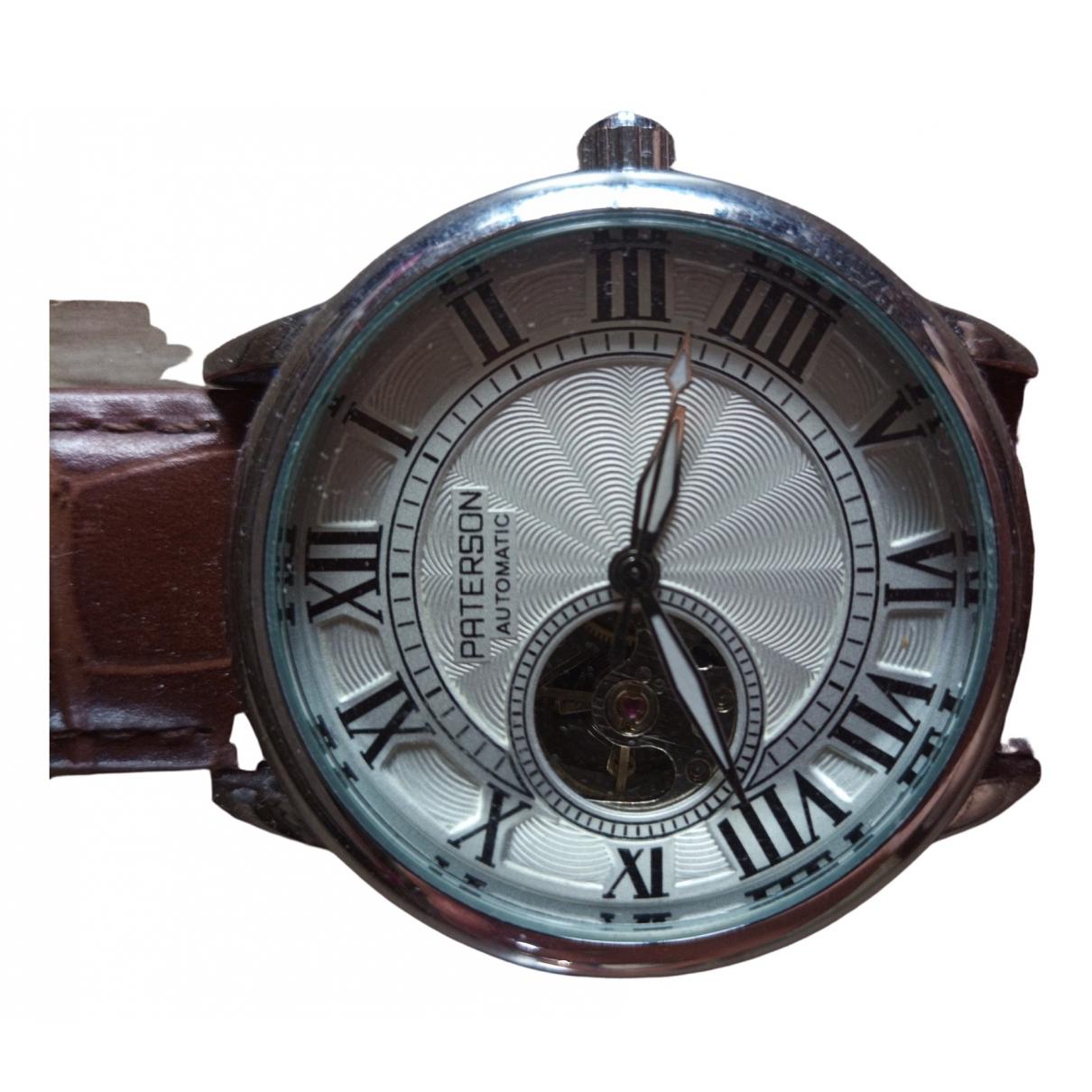 Paterson \N White Steel watch for Men \N