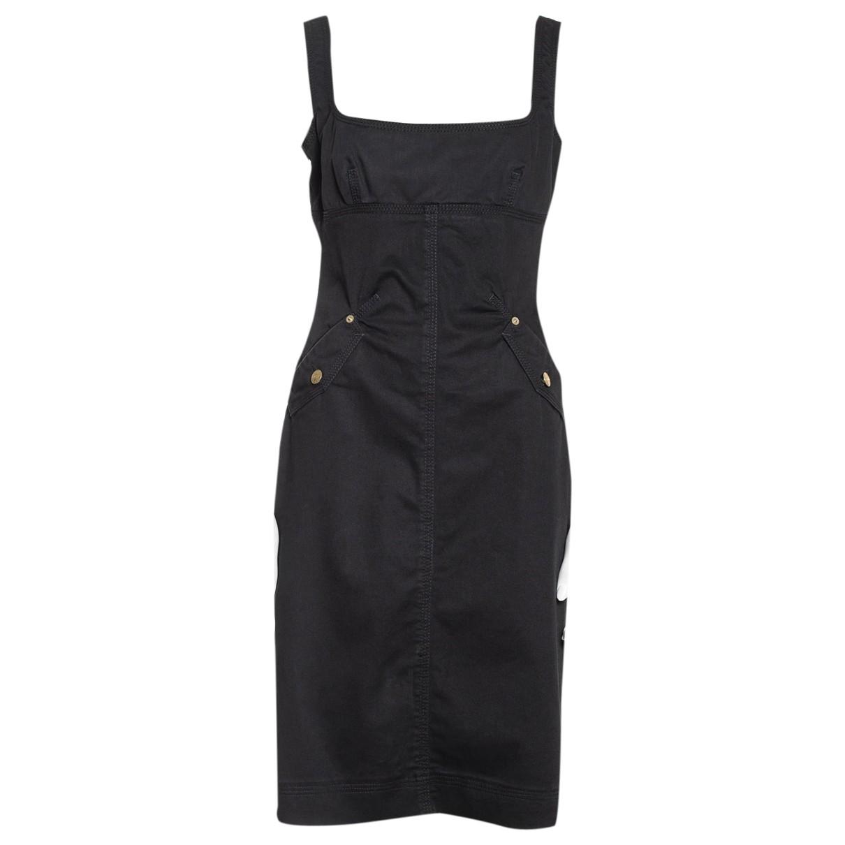 Dsquared2 \N Black Cotton dress for Women 44 IT
