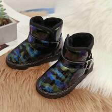Boys Camo Print Fur Lined Ankle Boots
