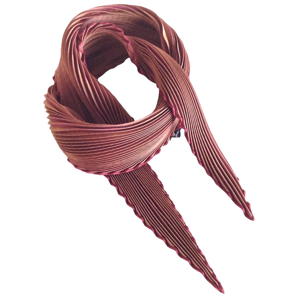 Hermès Plissé Brown Silk Silk handkerchief for Women \N
