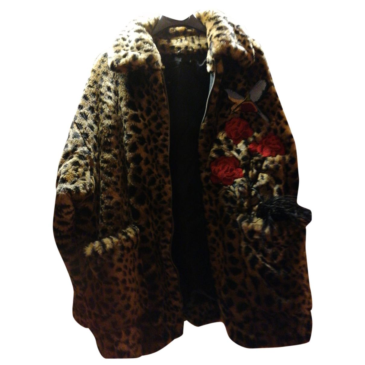 Ainea - Manteau   pour femme en fourrure synthetique - camel