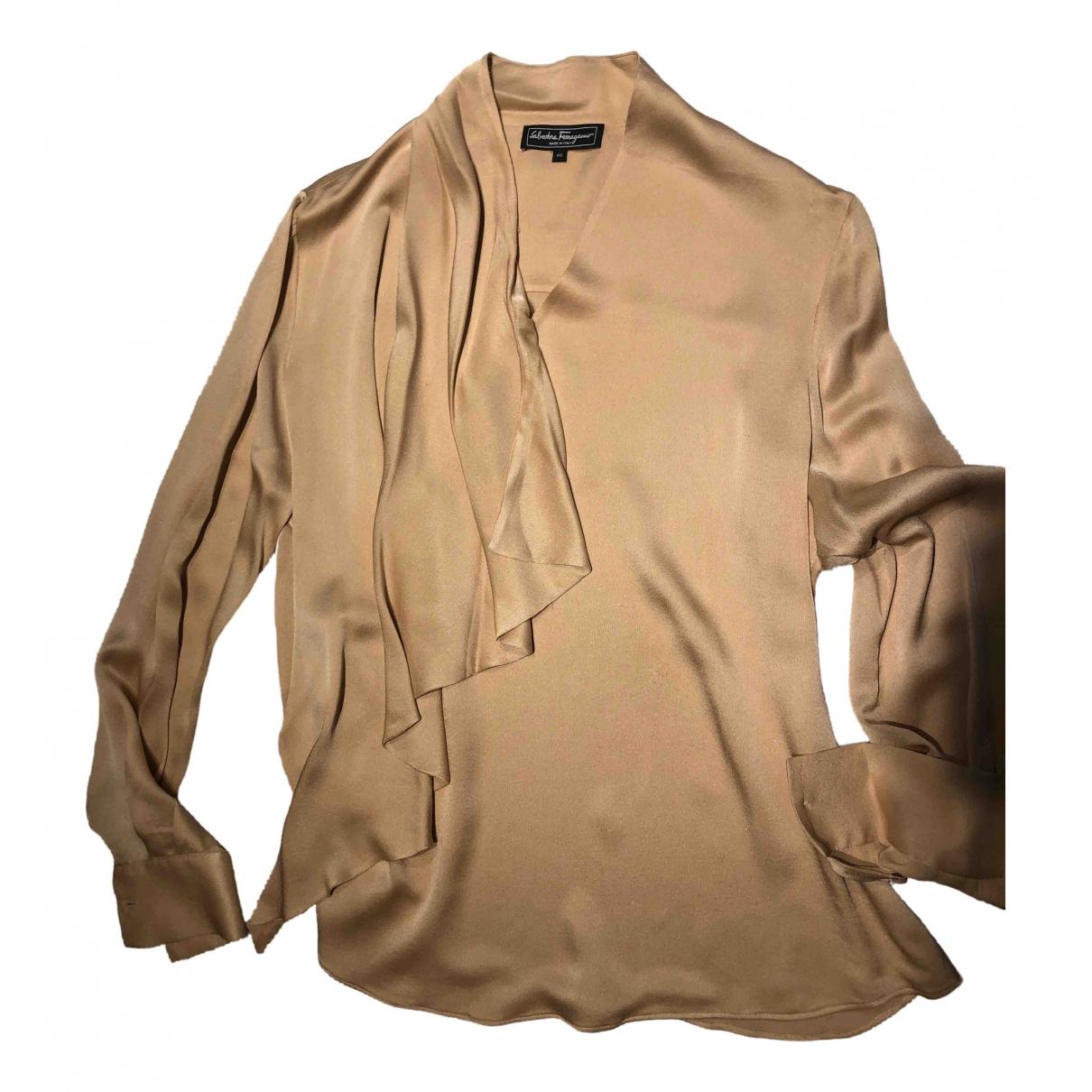 Salvatore Ferragamo \N Beige Silk  top for Women 46 IT
