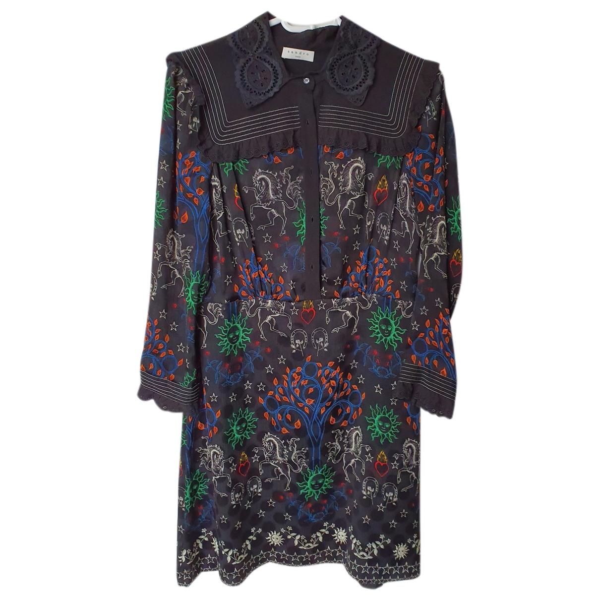 Sandro \N Black Silk dress for Women 40 FR