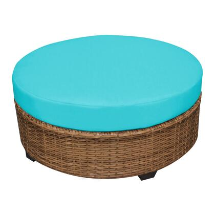 TKC025b-CTRND-ARUBA Laguna Round Coffee Table with 2 Covers: Wheat and