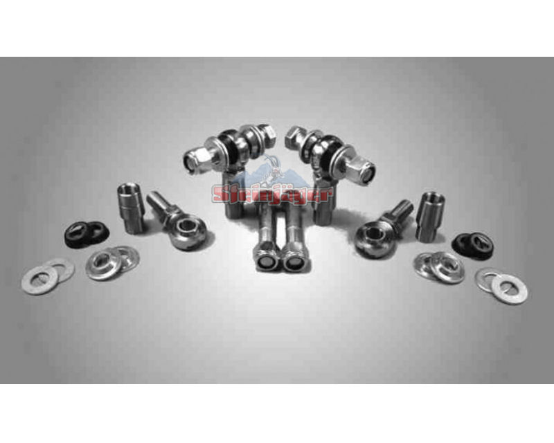Steinjager J0000564 Rod Ends Set 1 inch -12 for 1.750 OD x .120 Ball ID 2HSS-28120-16-16-TT-YY 1 inch -12 x 1