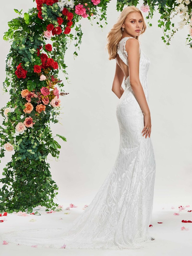 Ericdress Mermaid Lace Backless Wedding Dress