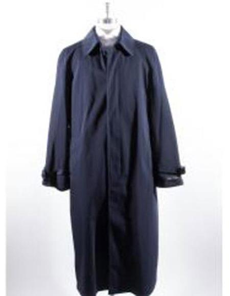 Mens Big And & Tall Trench Coat Navy