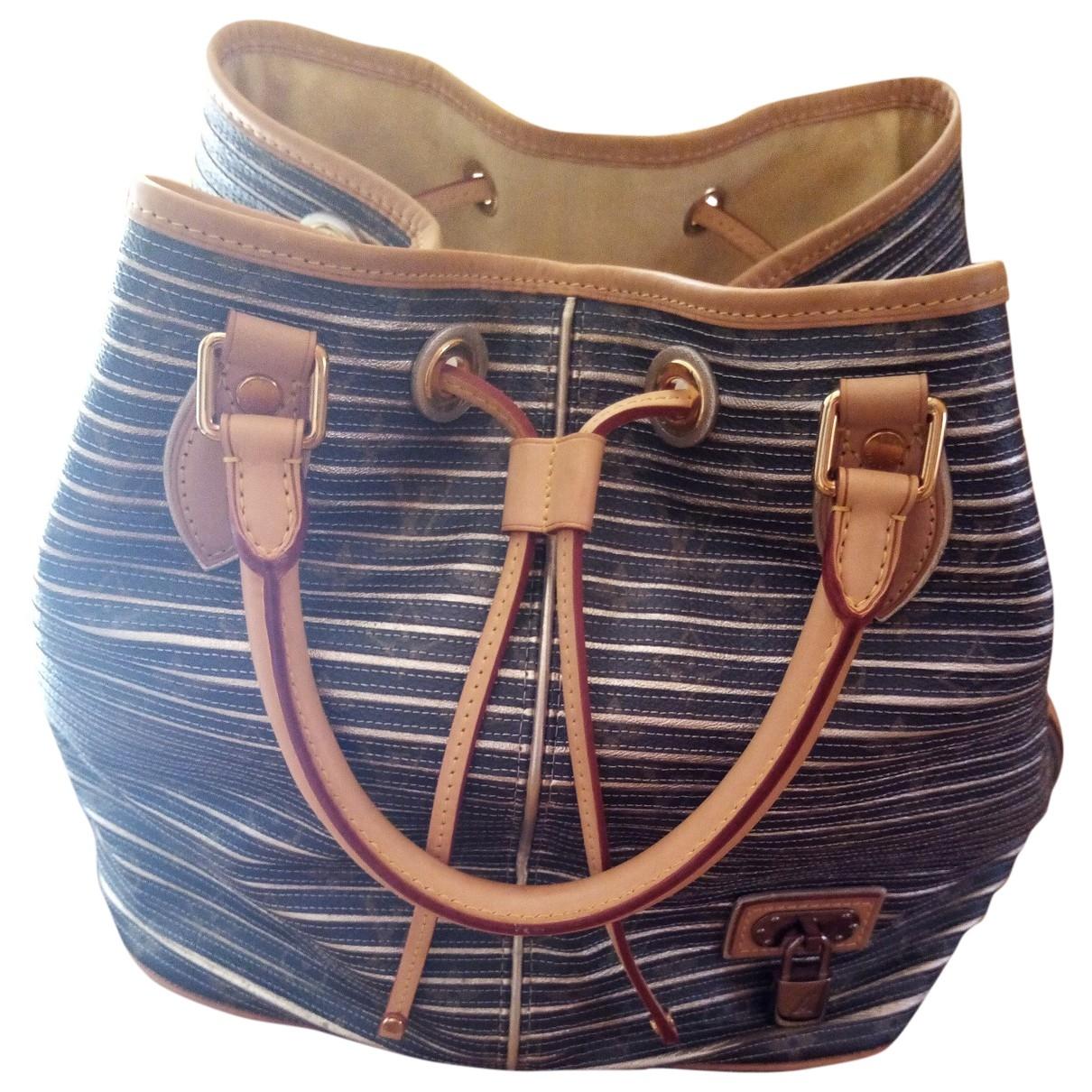 Louis Vuitton Girolata Handtasche in  Silber Leinen