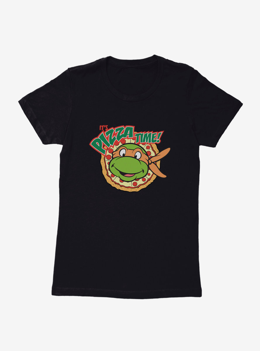 Teenage Mutant Ninja Turtles Michelangelo Pizza Time Womens T-Shirt