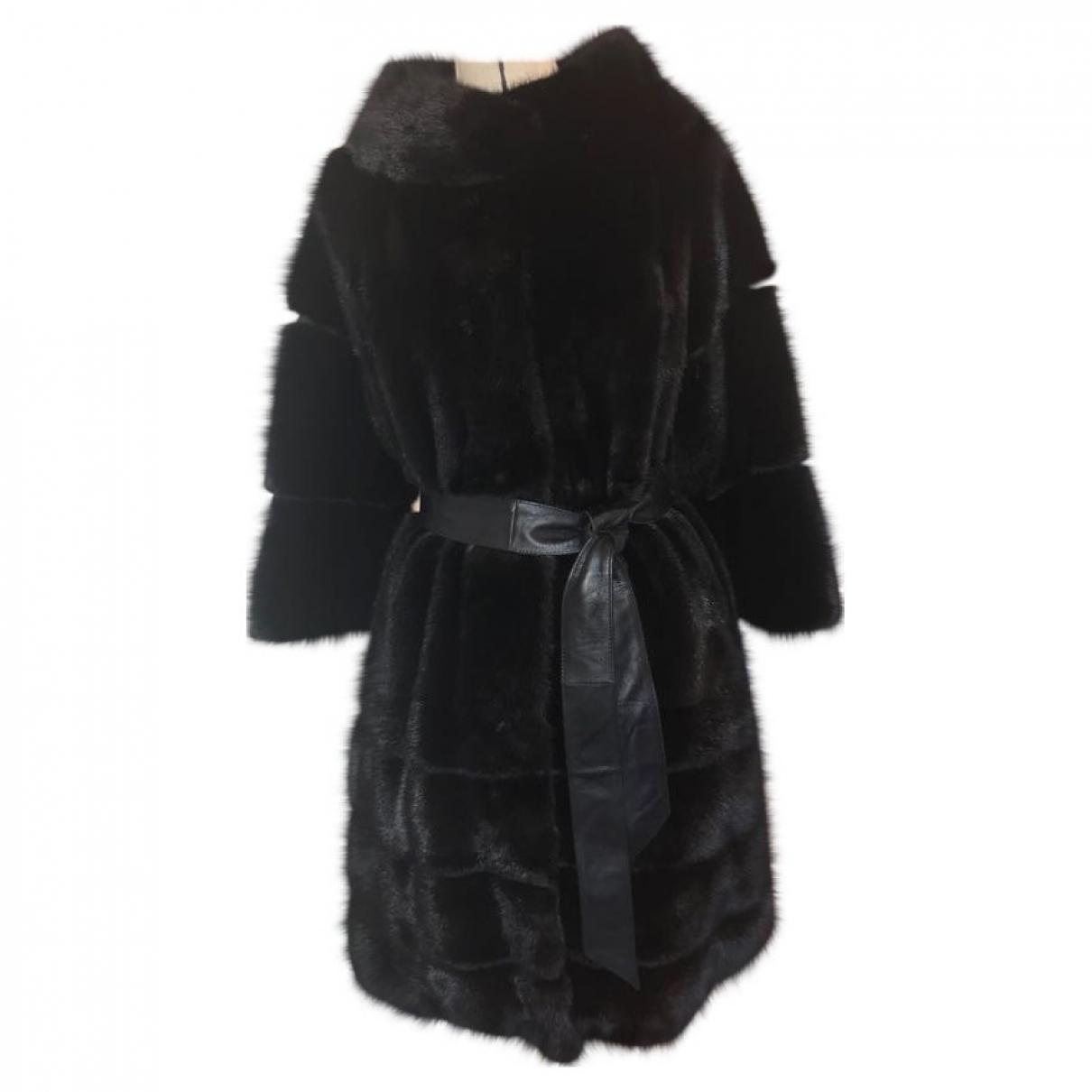 Non Signé / Unsigned \N Black Mink coat for Women 44 IT