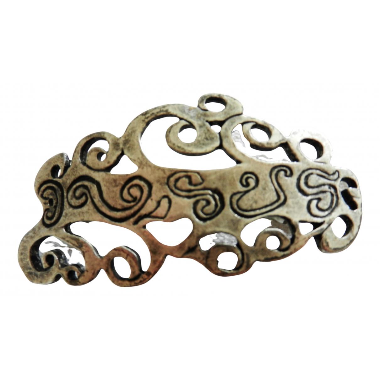 Non Signe / Unsigned Motifs Ethniques Haarschmuck in  Silber Metall