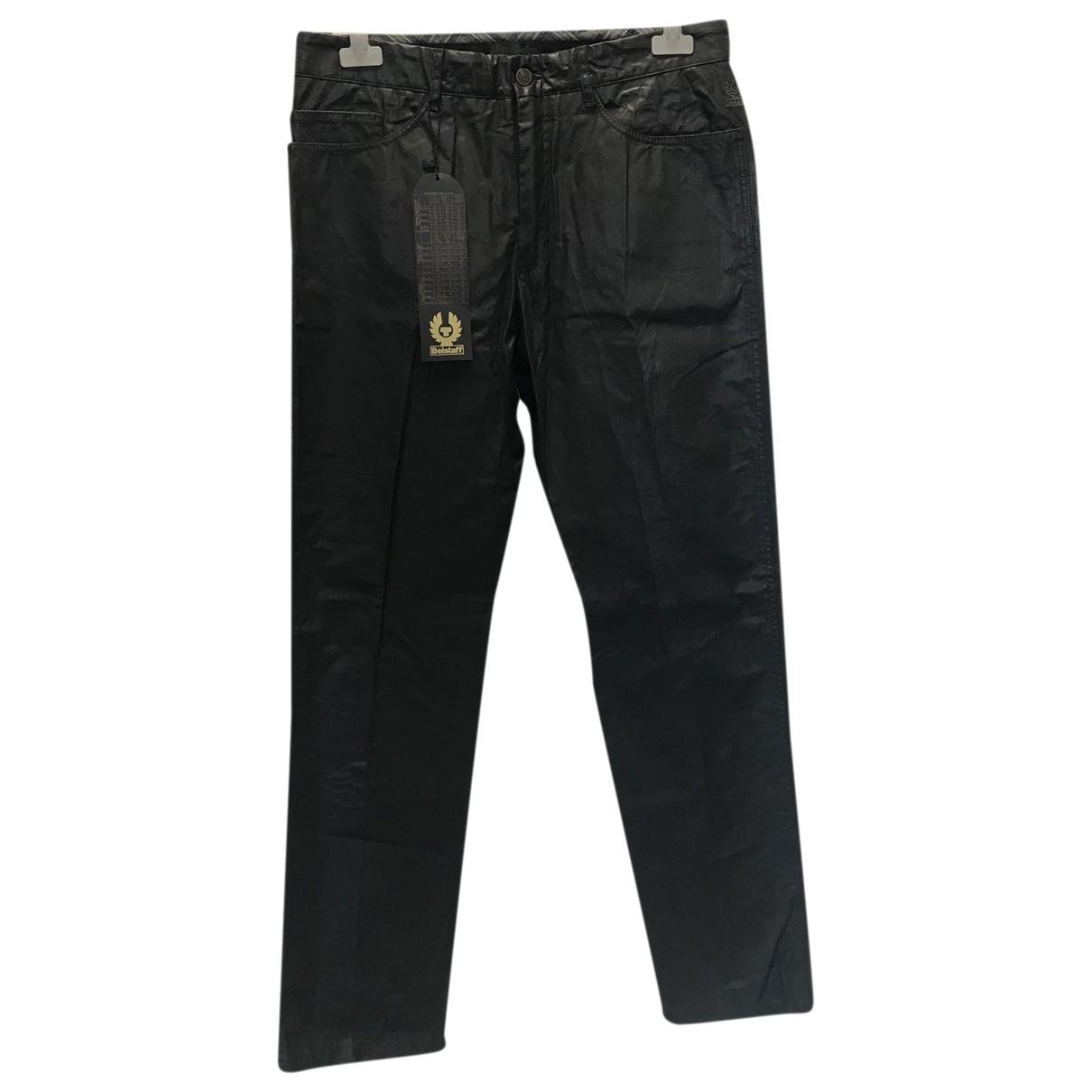 Pantalones en Poliester Negro Belstaff