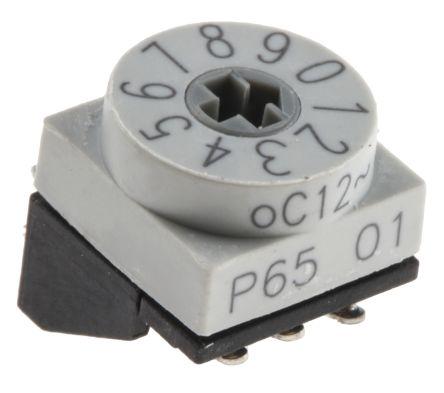 Hartmann 10 Way Through Hole DIP Switch, Slot Actuator