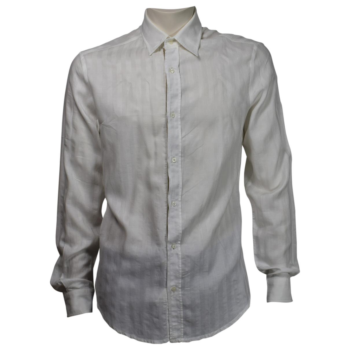 Just Cavalli - Chemises   pour homme en coton - blanc