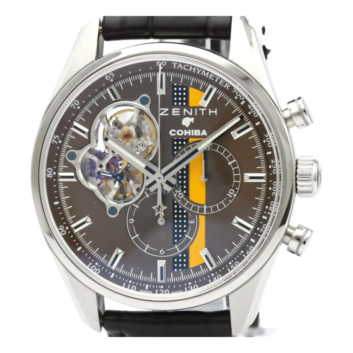 Zenith El Primero  Uhr in  Braun Stahl