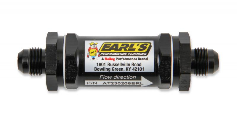 Earl's Performance AT230208ERL BLACK ANO -8 AN 85 MIC SCREEN FUEL FILTER