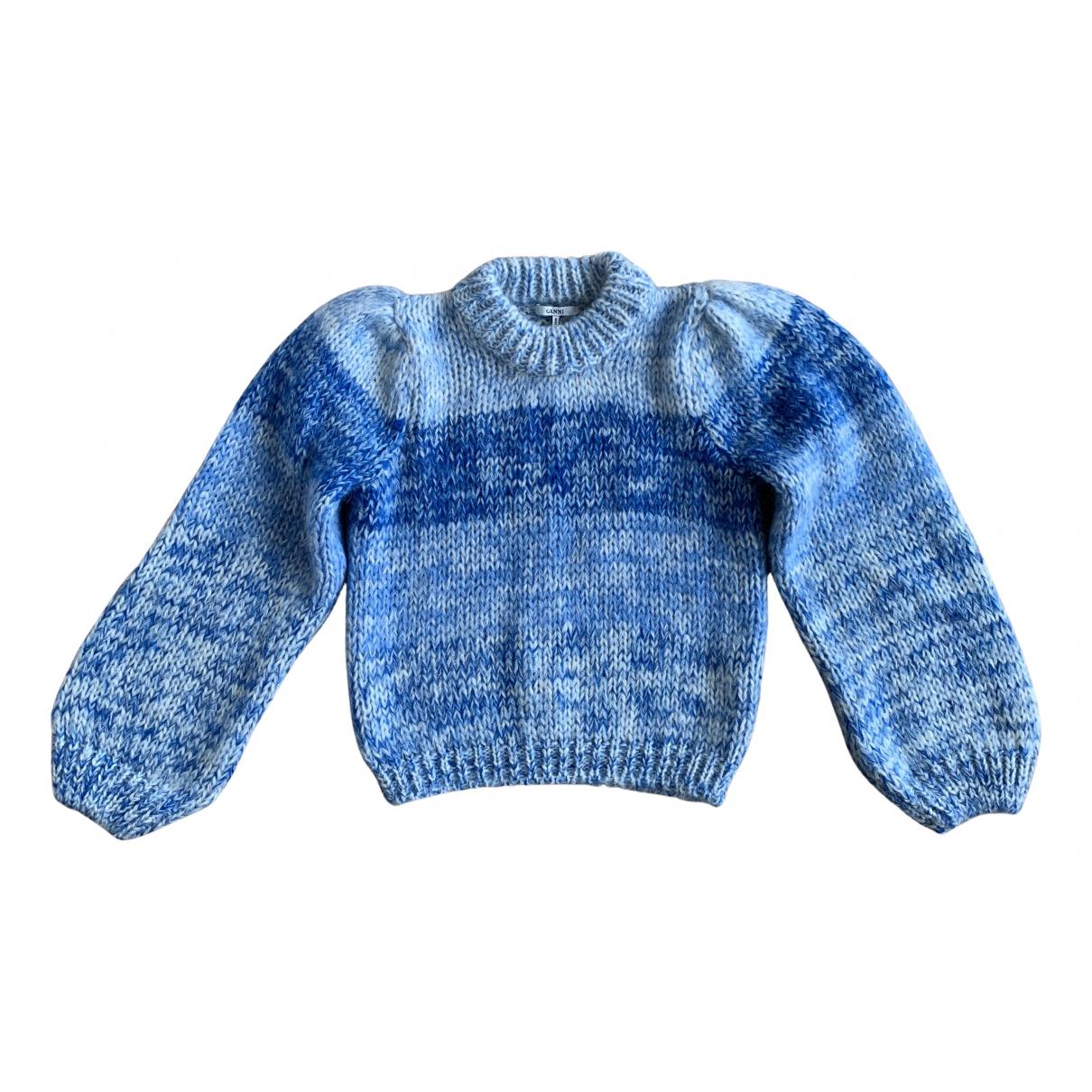 Ganni Fall Winter 2019 Pullover in  Blau Wolle