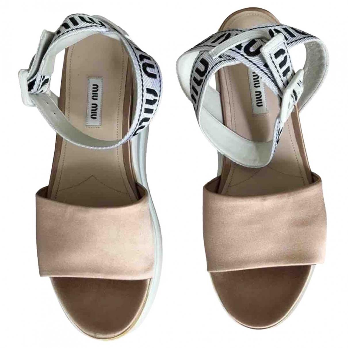 Miu Miu \N Pink Cloth Sandals for Women 39 EU