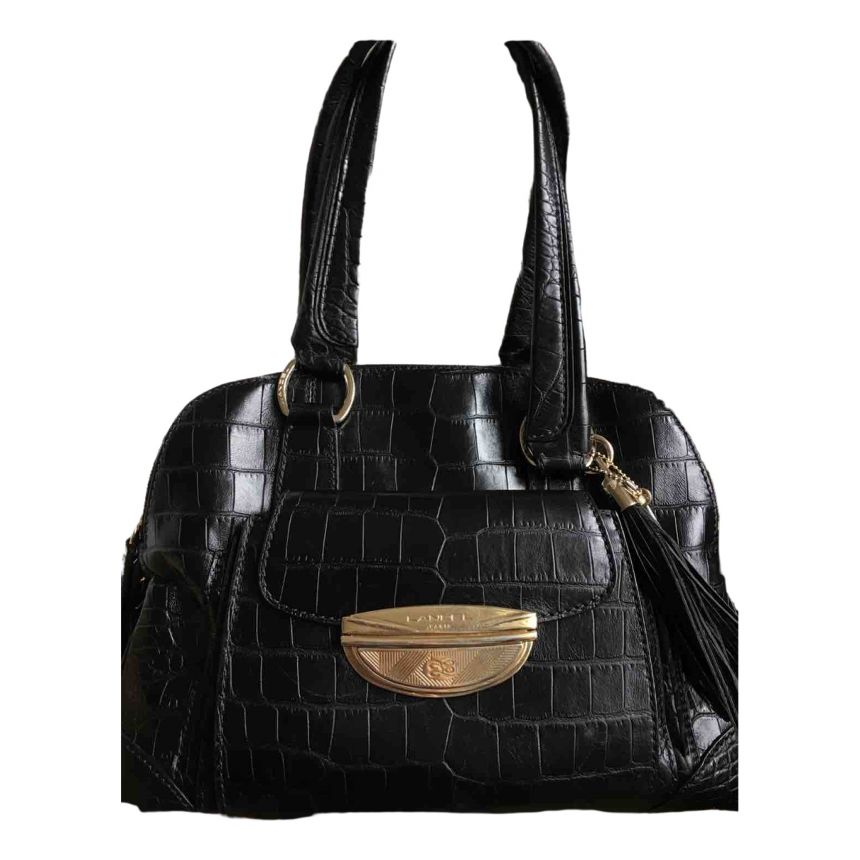 Lancel Adjani Black Leather handbag for Women \N