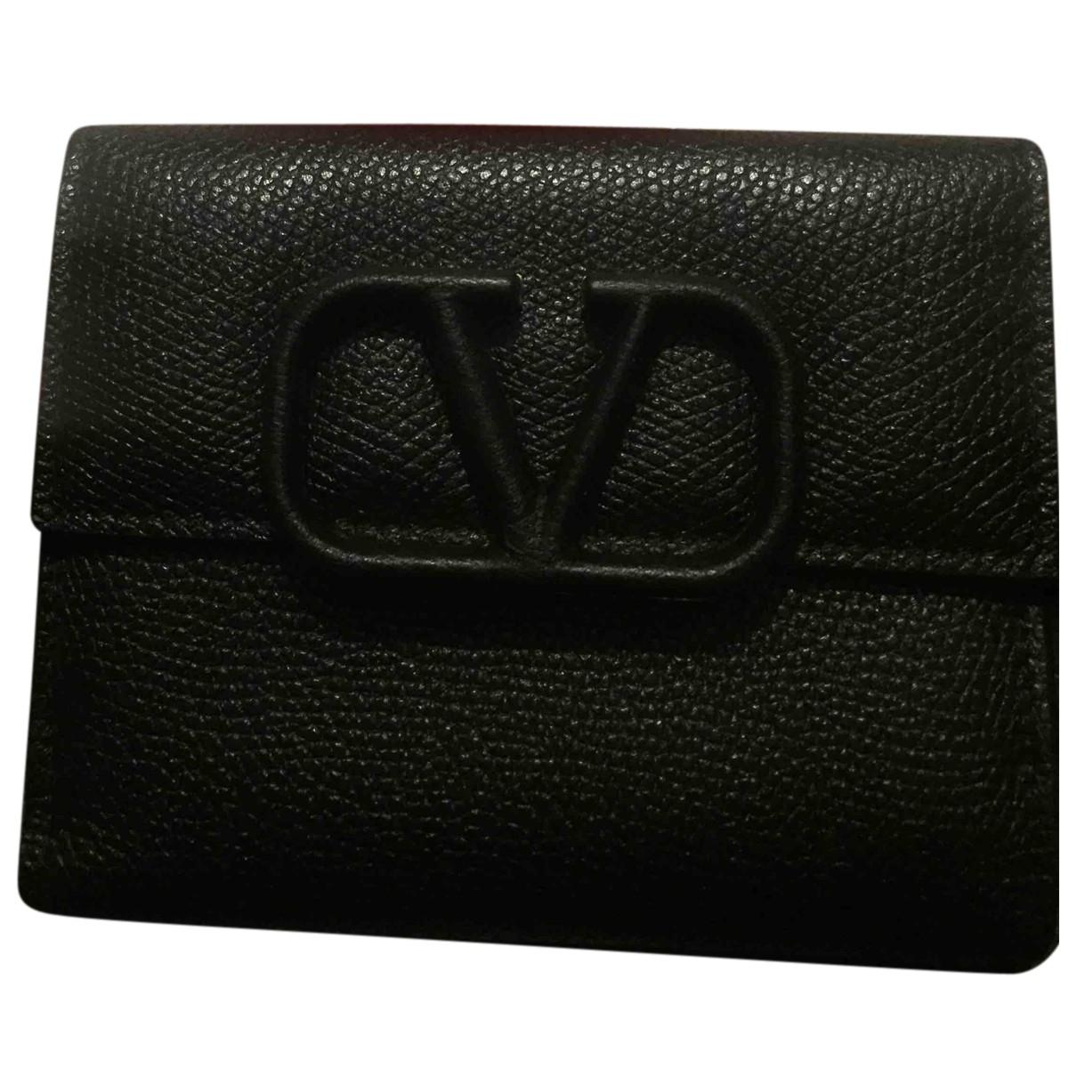 Valentino Garavani N Blue Leather wallet for Women N