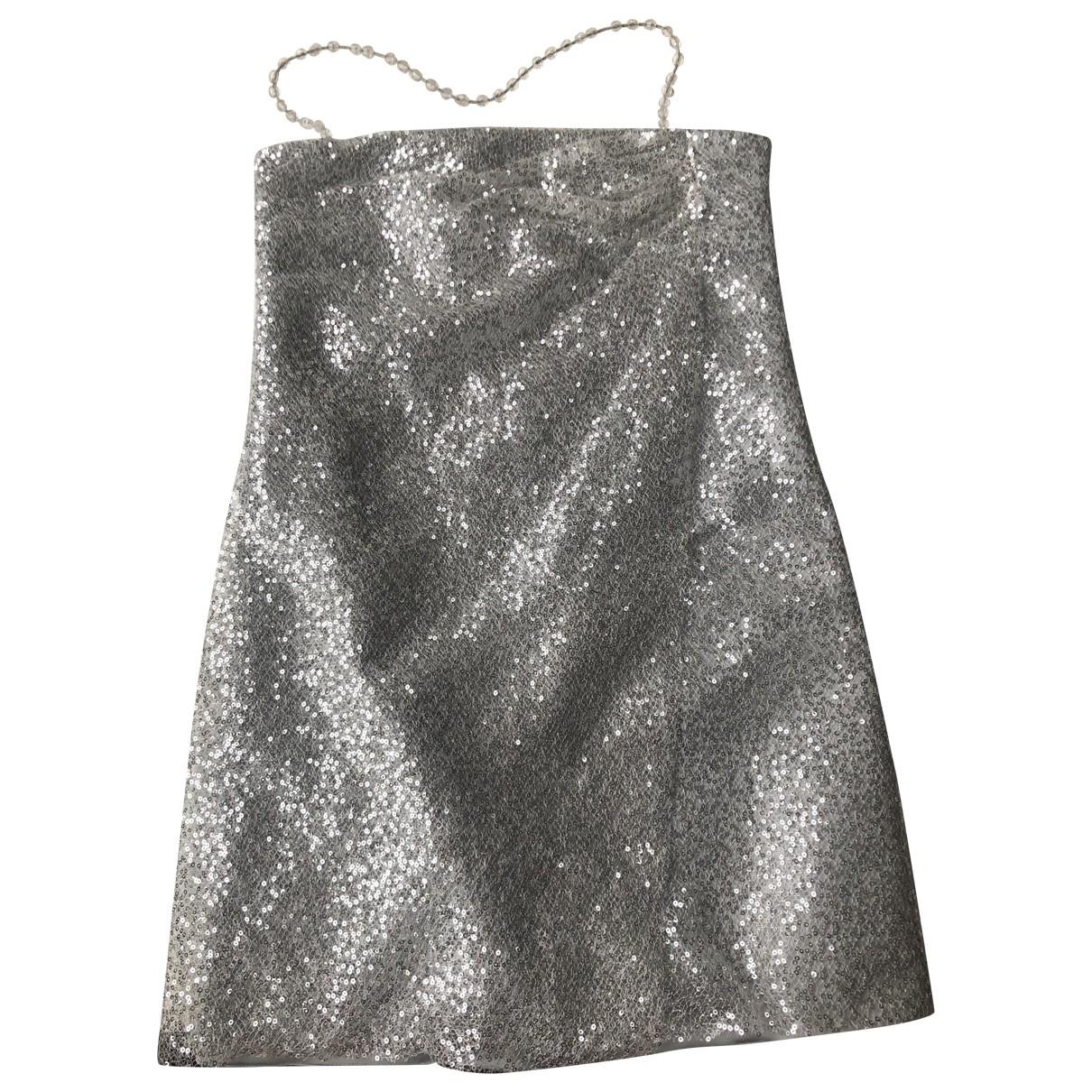 Emporio Armani \N Kleid in  Silber Mit Pailletten